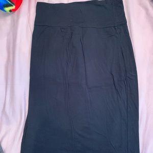 Velvet black stretchy skirt